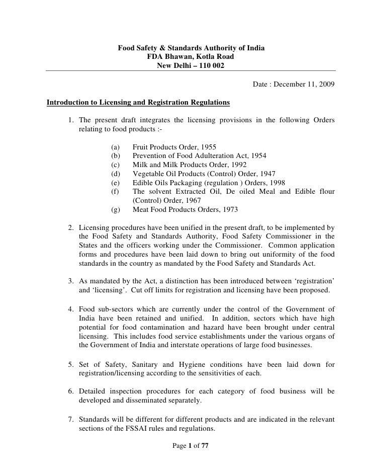 Food Safety & Standards Authority of India                               FDA Bhawan, Kotla Road                           ...