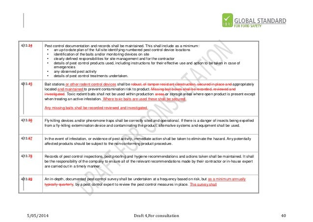 brc issue 7 draft rh slideshare net BRC Audit Grade A BRC Audit Consulting