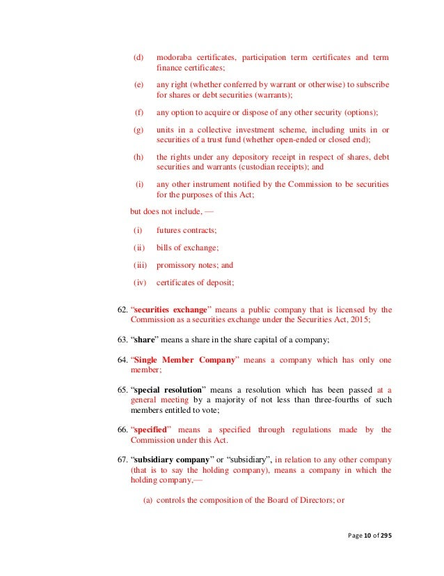 Draft Companies Bill 2015
