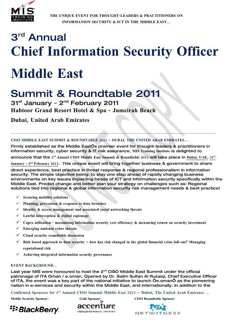 3rd Annual CISO Round Table
