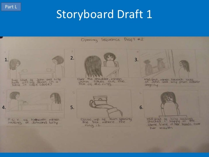 Part L          Storyboard Draft 1 1.         2.          3.4.          5.               6.