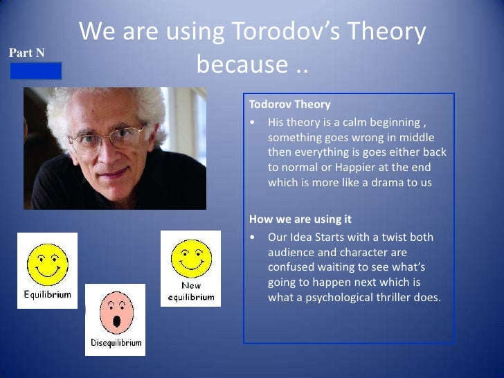 We are using Torodov's TheoryPart N                   because ..                       Todorov Theory                     ...