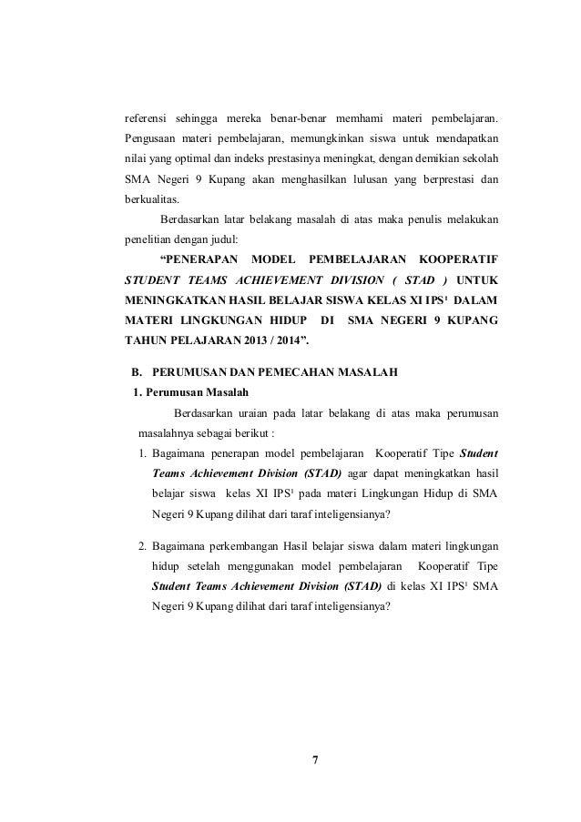 Contoh Proposal Skripsi Pendidikan Geografi