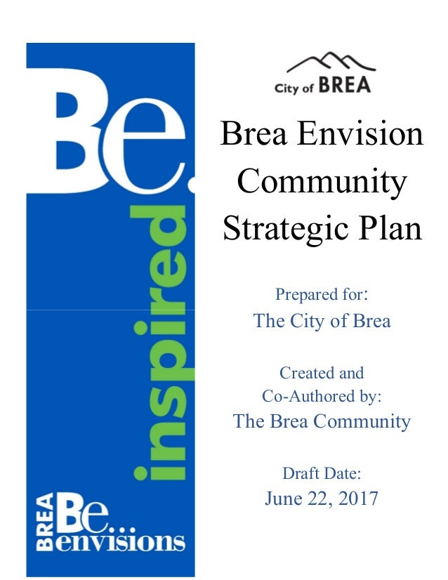 Draft Brea Comm Strategic Plan