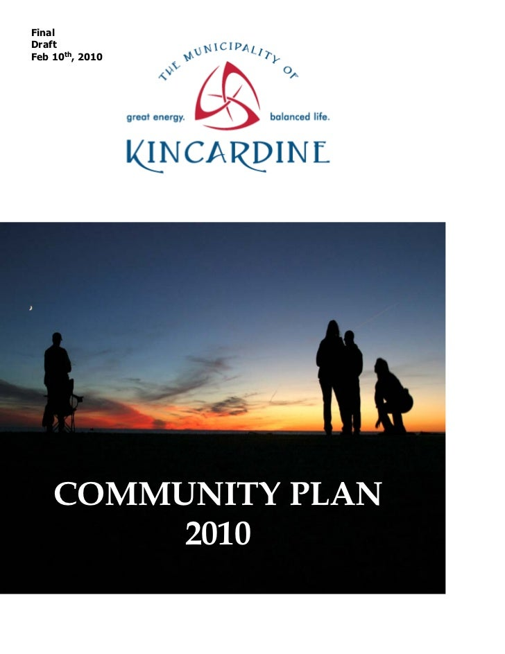 FinalDraftFeb 10th, 2010    COMMUNITY PLAN         2010