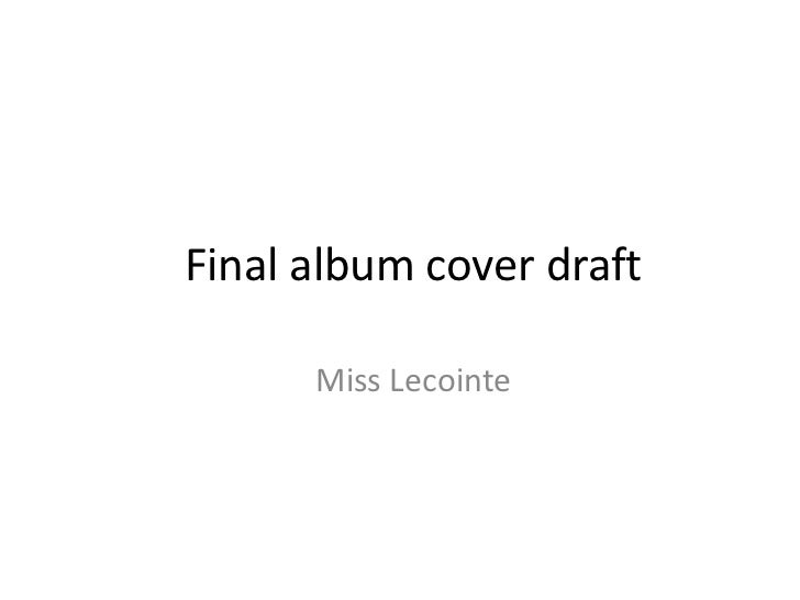Final album cover draft      Miss Lecointe
