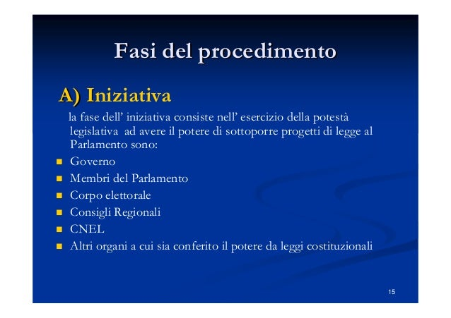 Drafting e procedimento legislativo for Membri del parlamento