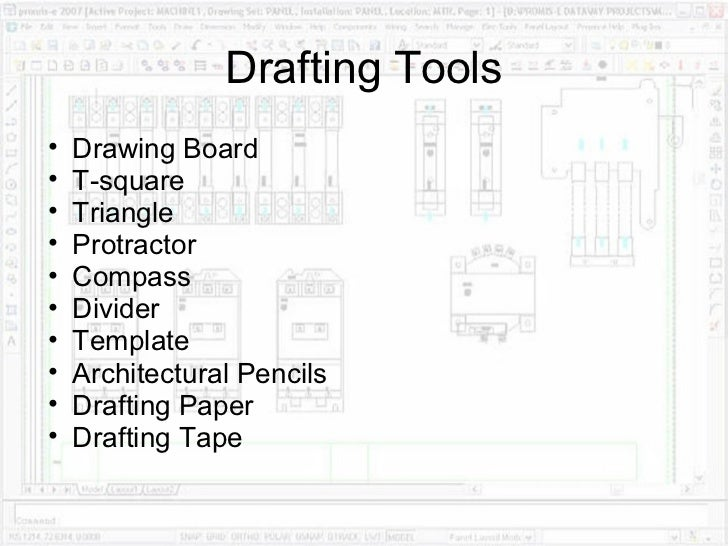 Drafting Equipment And Procedures