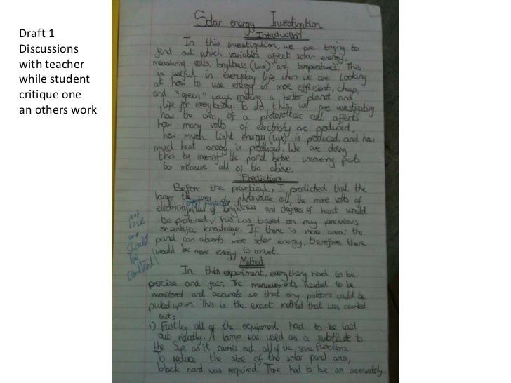Draft 1Discussionswith teacherwhile studentcritique onean others work