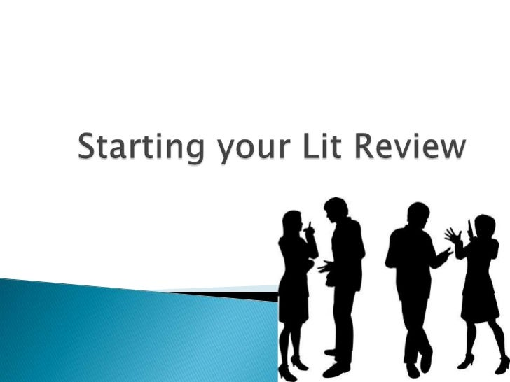   A lit review is the beginning of your research    paper.   Clustering your sources   Subject headings   What the so...