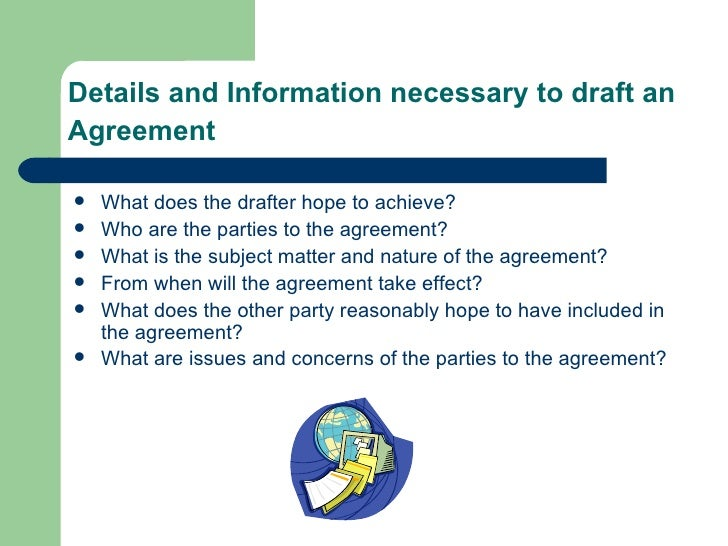 Drafting Of Agreements