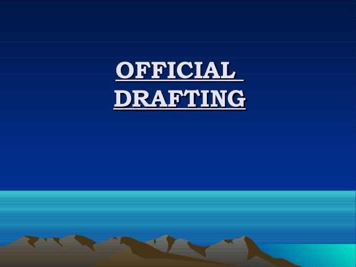 OFFICIALDRAFTING