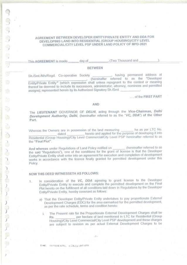 Draft Land Pooling Policy Regulations For The Website 290114