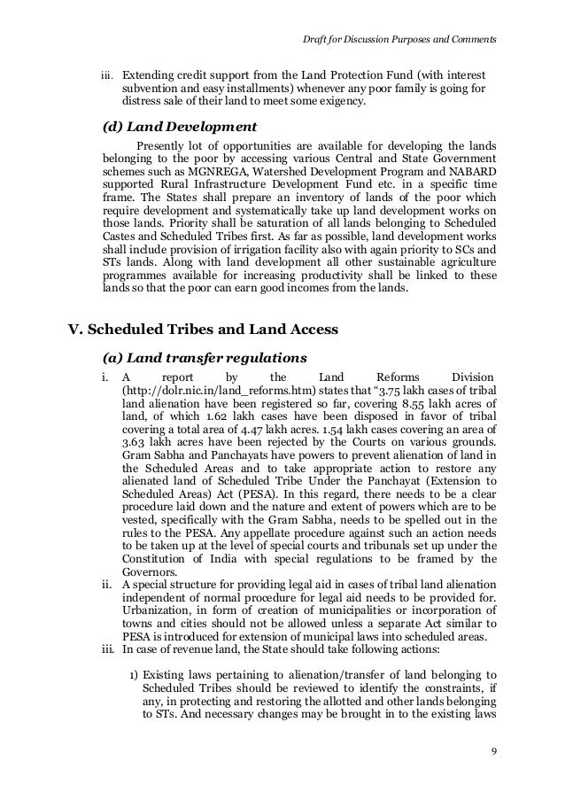 land reform policy of the government of india World bank policy research working paper 2123, may 1999  land reforms  are a major policy focus of the government of india's department of rural.