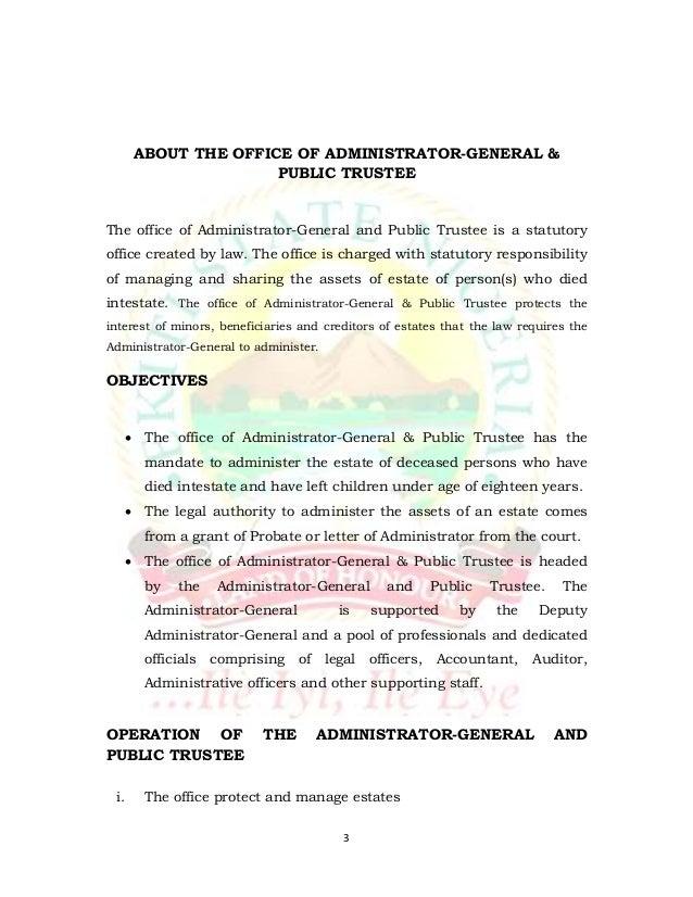 Draft Of Ekiti State Administrator General & Public Trustees