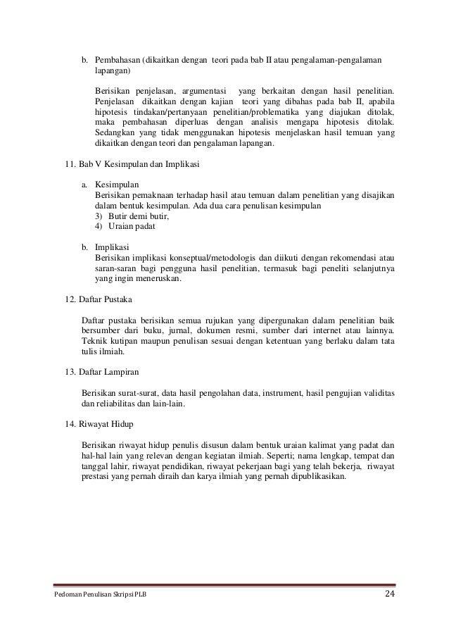 Draft Pedoman Penulisan Skripsi Dan Makalah