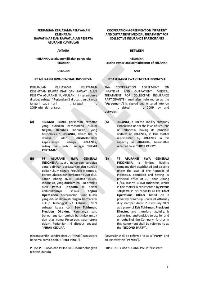 Presmusan Contoh Perjanjian Kerjasama Dalam Bahasa Inggris