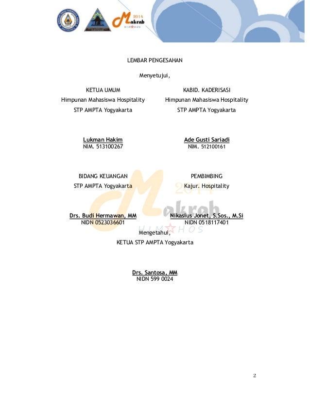 Draf Proposal Makrab Himpunan Mahasiswa Hospitality Sekolah Tinggi Pa
