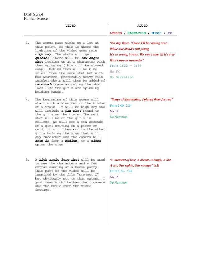 Draft Script Beth Melia By Hannah