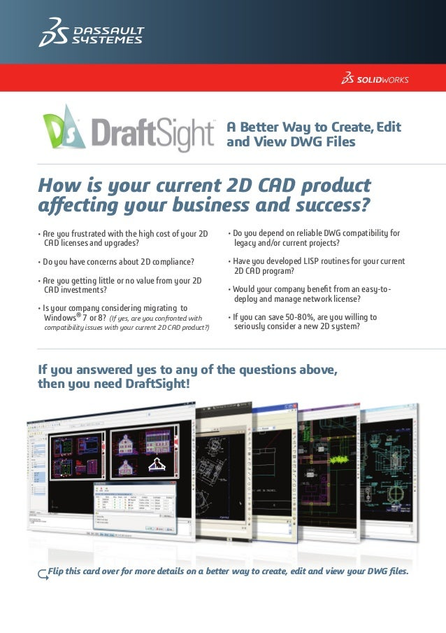 The Value of DraftSight - Postcard