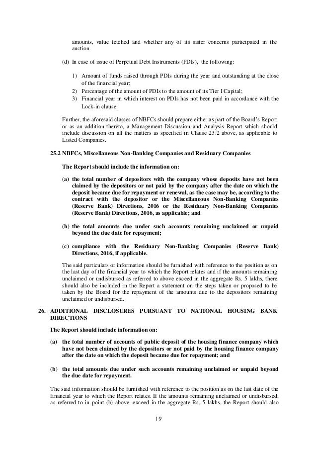 Exposure Draft Secretarial Standard On Report Of The Board Of Directo