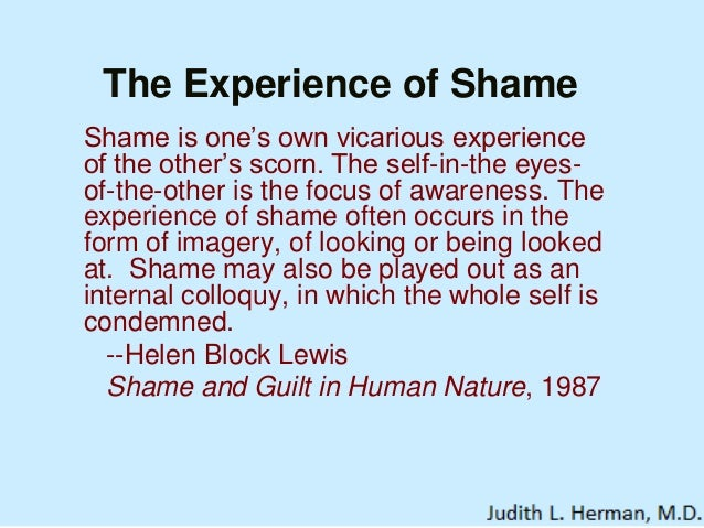 Cosequences of shame and guilt essay