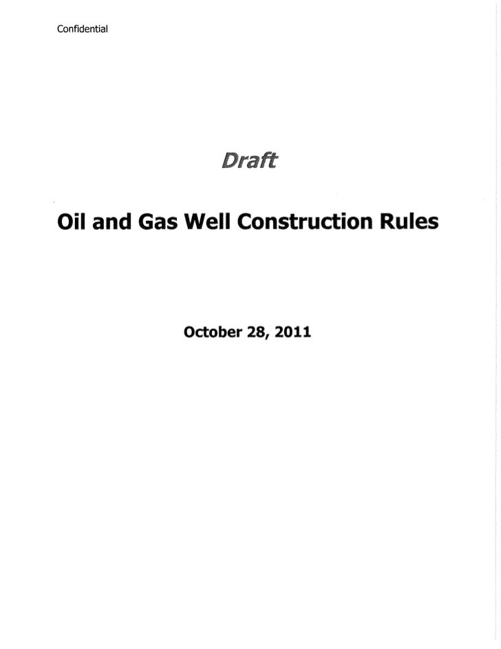 Ohio Oil and Gas Well Construction Rules - Draft