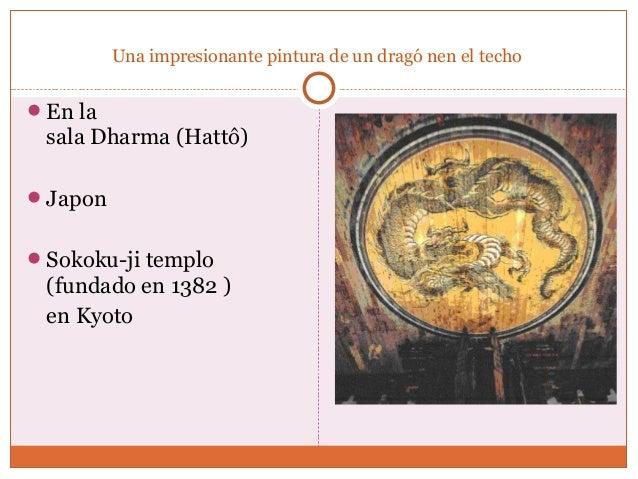 Una impresionante pintura de un dragó nen el techo  En la  sala Dharma (Hattô)  Japon  Sokoku-ji templo  (fundado en 13...