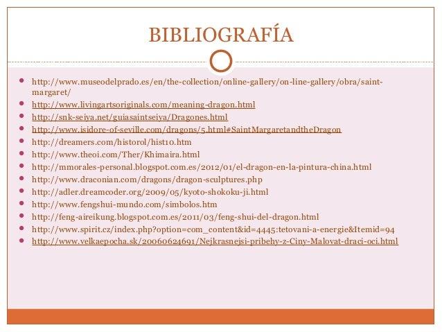 BIBLIOGRAFÍA   http://www.museodelprado.es/en/the-collection/online-gallery/on-line-gallery/obra/saint-margaret/   http:...