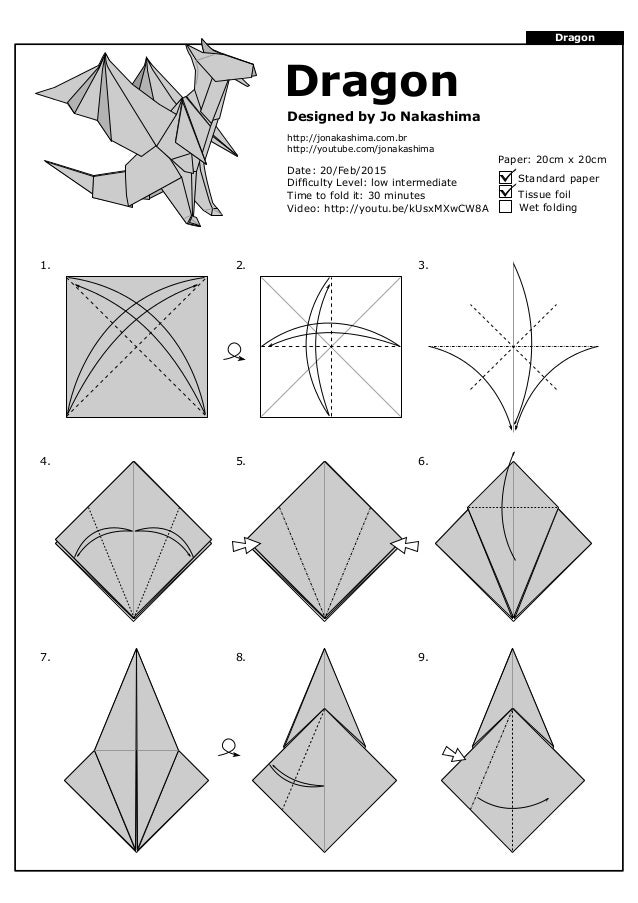 dragon jo nakashima rh slideshare net origami dragon diagram instructions origami dragon diagram instructions
