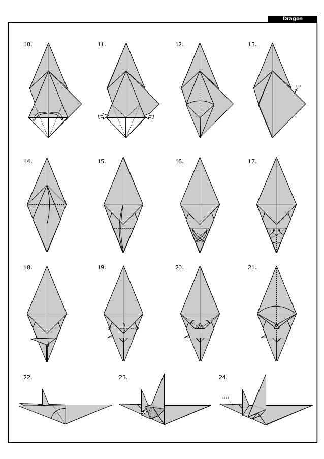 How to make an Origami Darkness Dragon 2.0 (Tadashi Mori) - YouTube | 903x638
