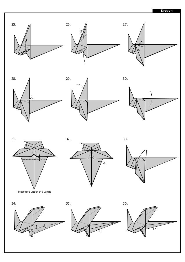 46 Ideas For Origami Dragon Instructions Pictures #origami ... | 903x638