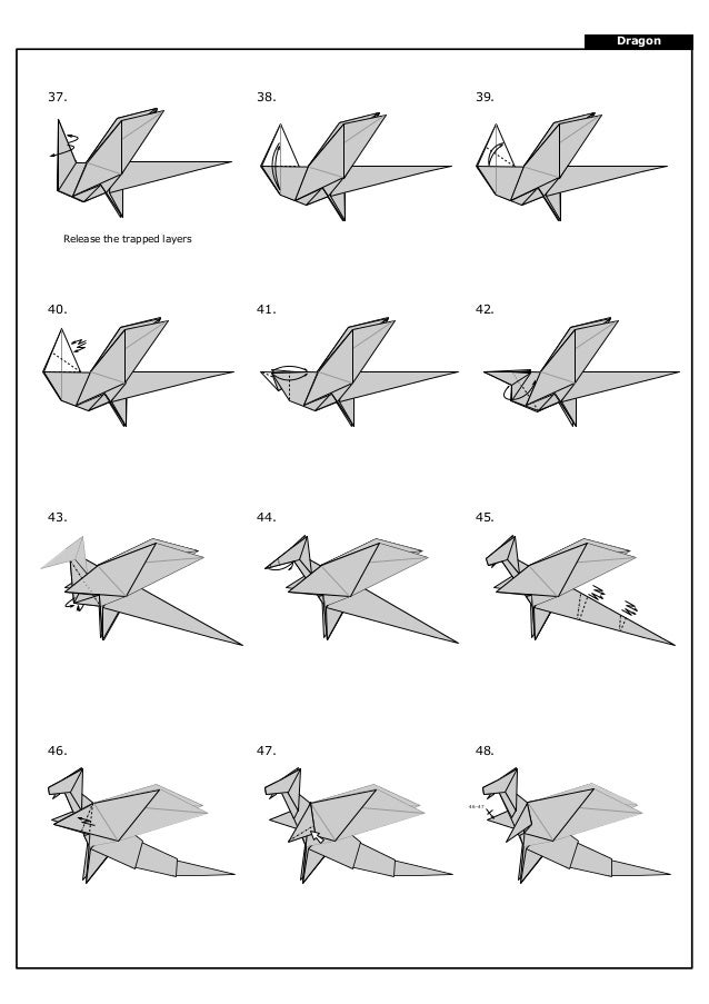 Origami - How to make an easy origami dragon - YouTube | 903x638