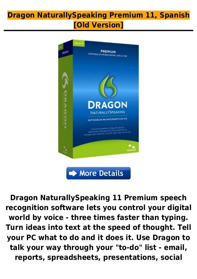 Dragon NaturallySpeaking Premium 11, Spanish[Old Version]Dragon NaturallySpeaking 11 Premium speechrecognition software le...