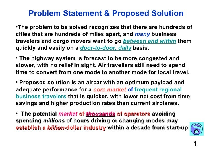 problem statement of a project Problem statement start your project charter here with a clear problem statement describes the problem you are trying to solve or the opportunity you are trying to capitalize upon in an objective manner without commentary or opinion.