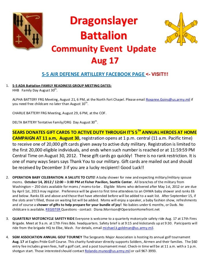 Dragonslayer                                            Battalion                             Community Event Update      ...