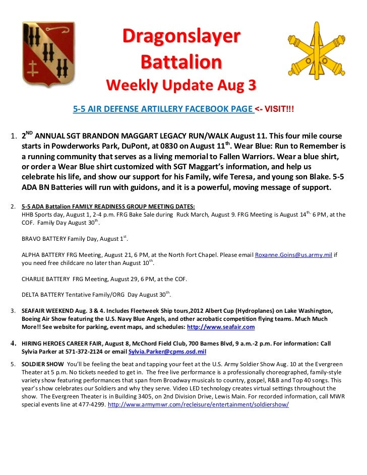 Dragonslayer                                          Battalion                                   Weekly Update Aug 3     ...