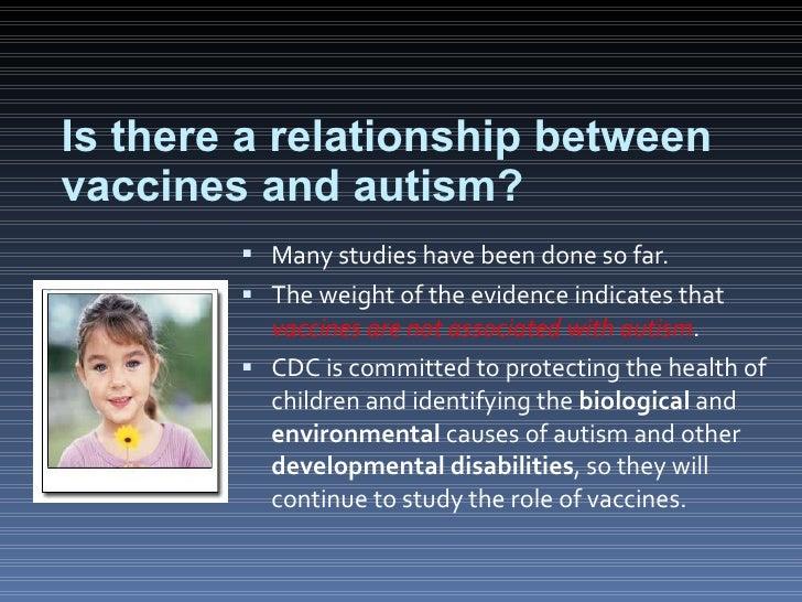 relationship between vaccines and autism