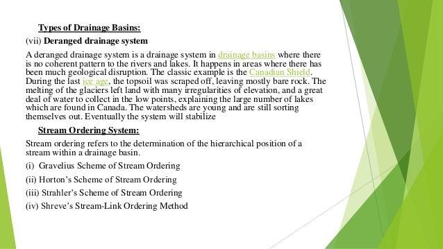 Drainage basins for Types of drainage