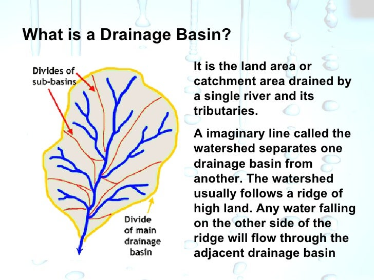 Drainage basins and water budgets