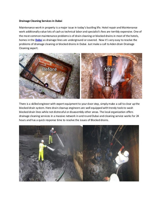 Manholes / Drainage Pipeline Cleaning services in Dubai