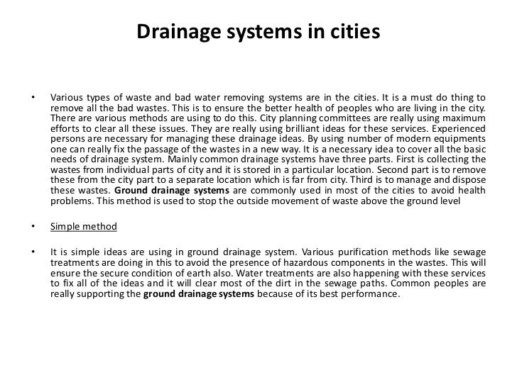Different Drainage Systems - 웹
