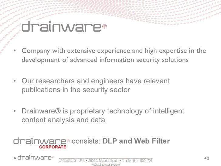 Drainware Corporate Slide 3