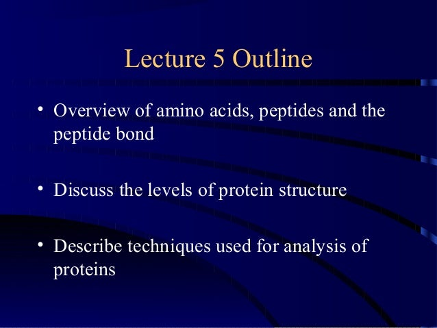 Biomolecules: Peptides and Proteins Slide 2