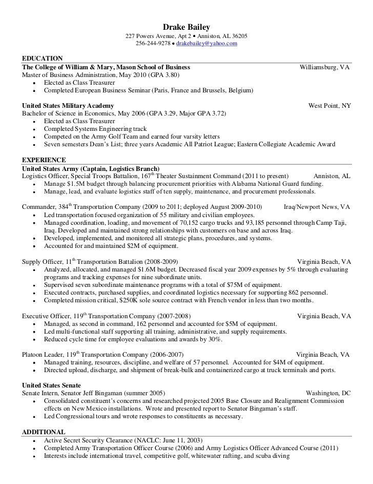 bailey resume