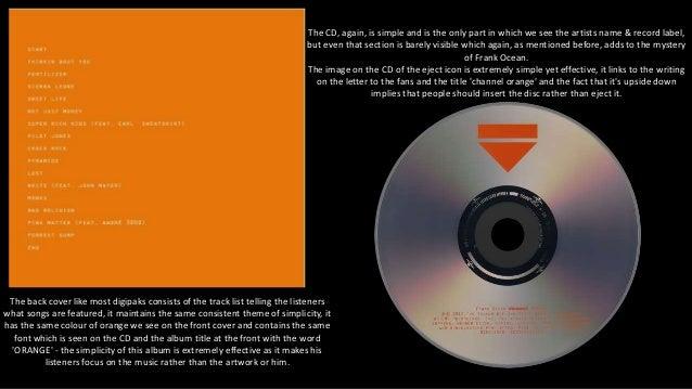 Digipak Analysis - Take Care & Channel Orange