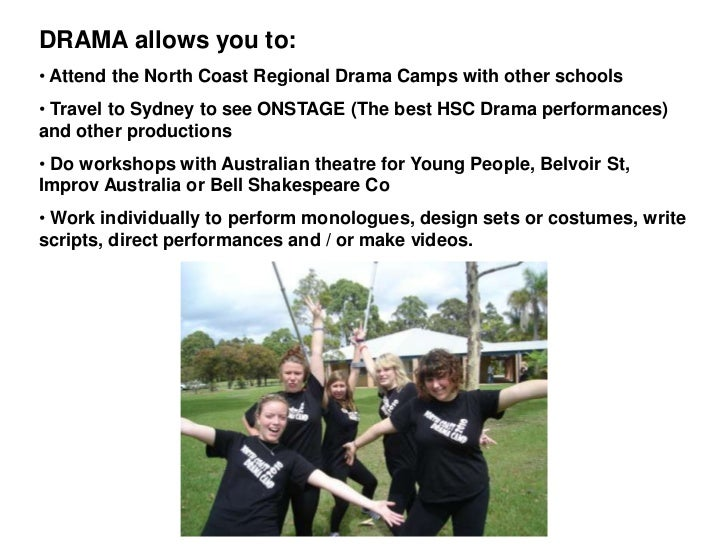 how to write a script for drama hsc