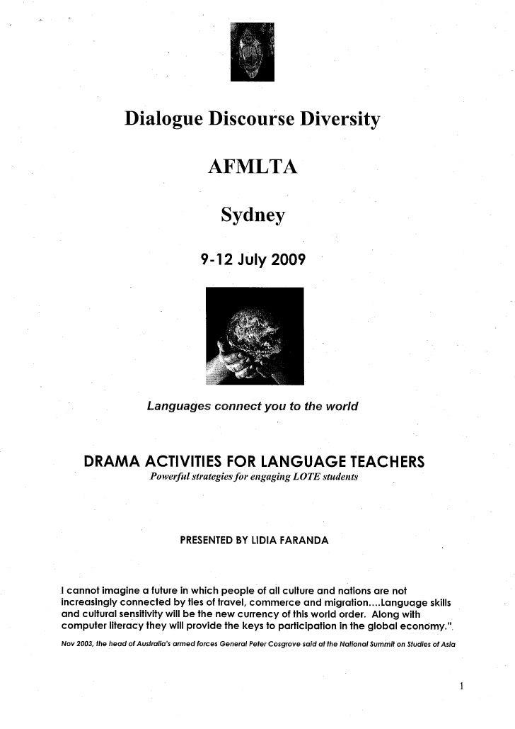 Drama activities for Language teachers
