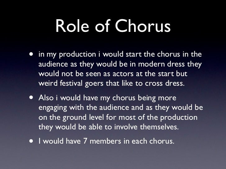 role of chorus in lysistrata