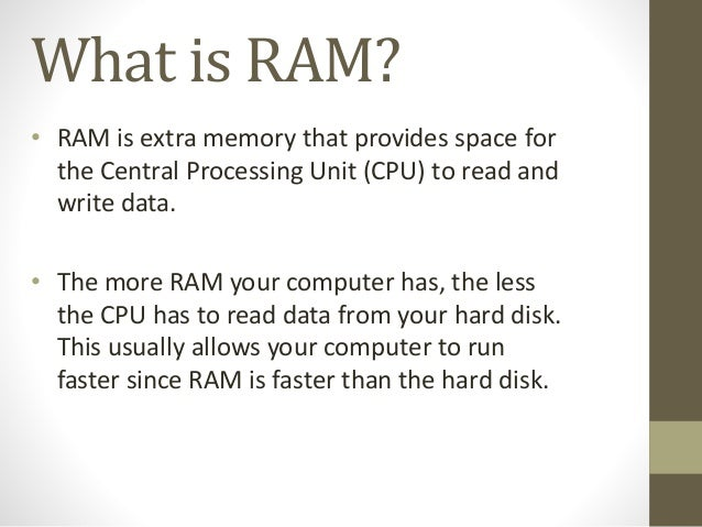 Memory ram and its types.